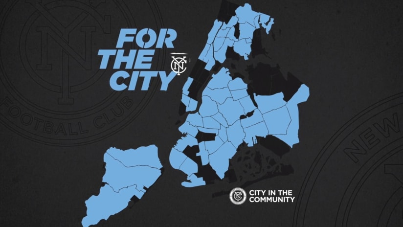 New York City FC announces ambitious For The City five-year commitment