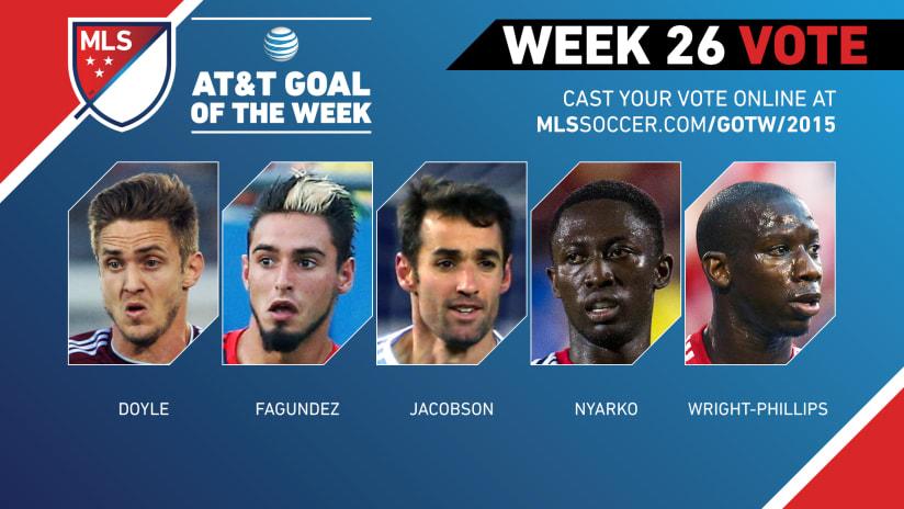 MLS Goal of the Week (Week 26)