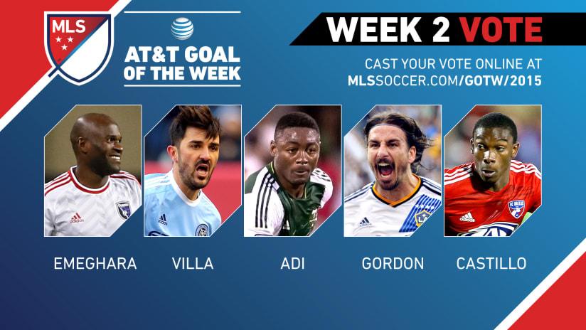 MLS Goal of the Week (Week 2) nominees