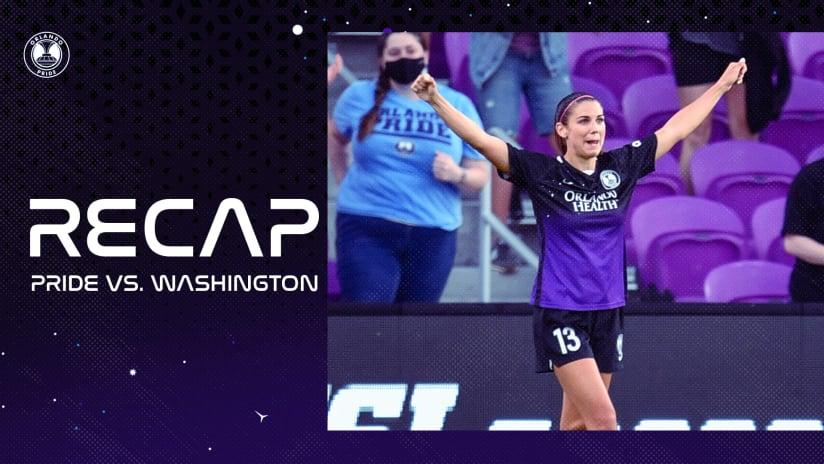 Recap | Alex Morgan Scores as Pride Draw Washington 1-1