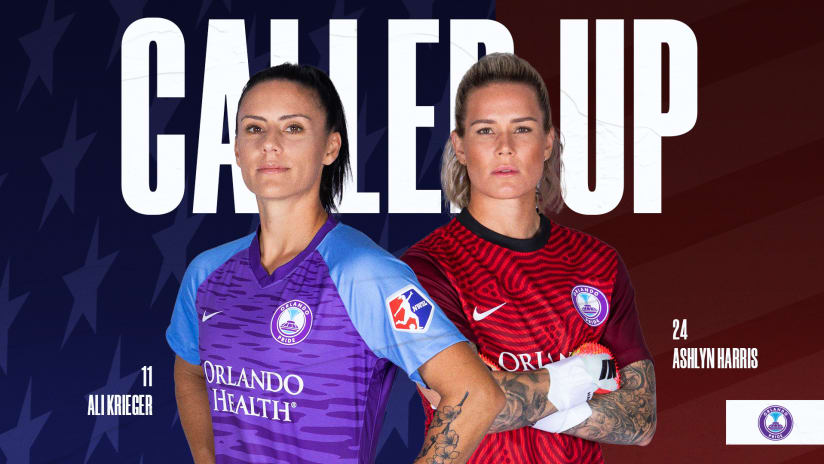 Krieger and Harris Called Up for Pair of USWNT Friendlies at Exploria Stadium