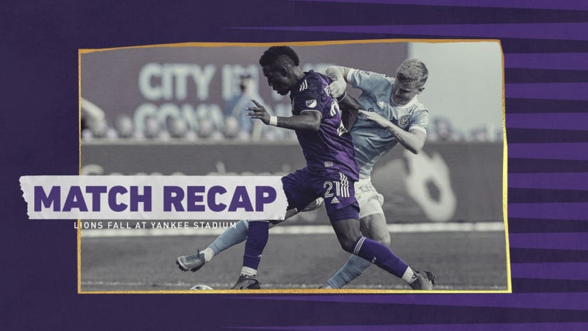 Lions Defeated on the Road by New York City FC