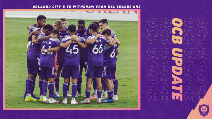 Orlando City B to Withdraw from USL League One