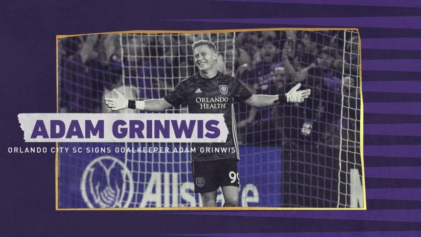 Orlando City SC Signs Goalkeeper Adam Grinwis