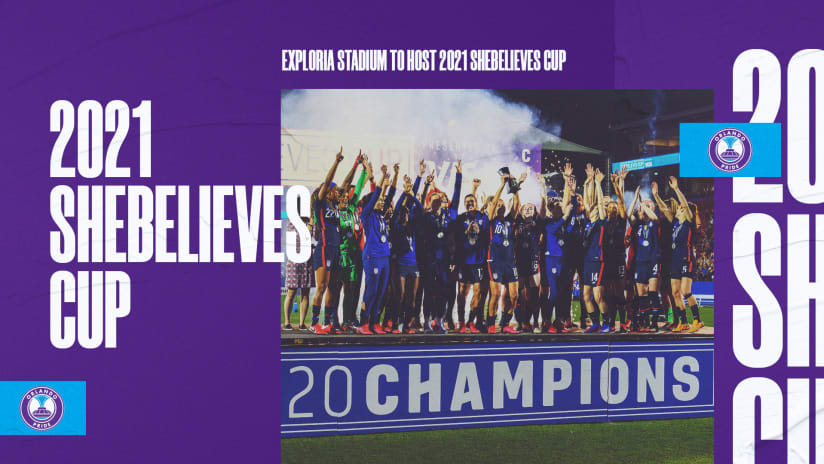 Exploria Stadium Selected to Host 2021 SheBelieves Cup Featuring Four of the World's Best Nations