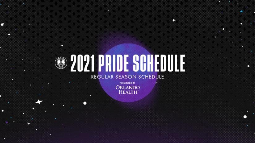 Orlando Pride 2021 NWSL Regular Season Schedule