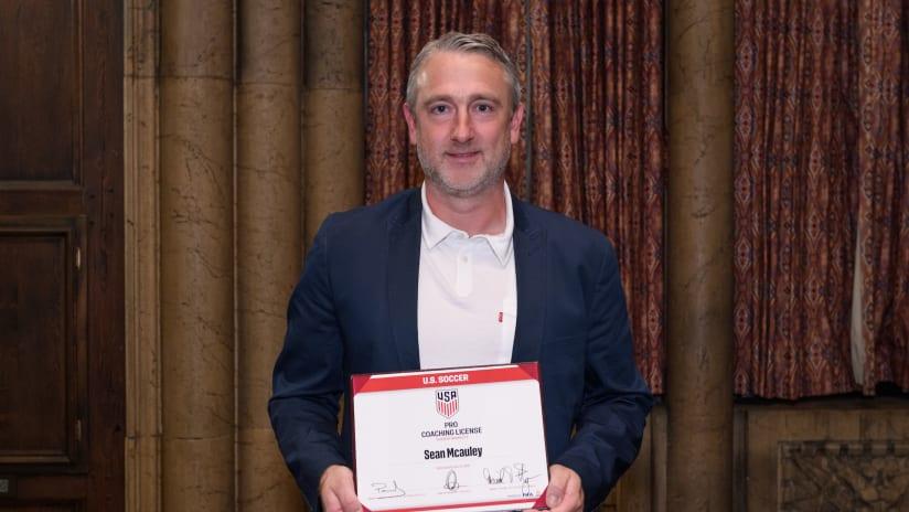 City's Sean McAuley Completes U.S. Soccer Pro License Course