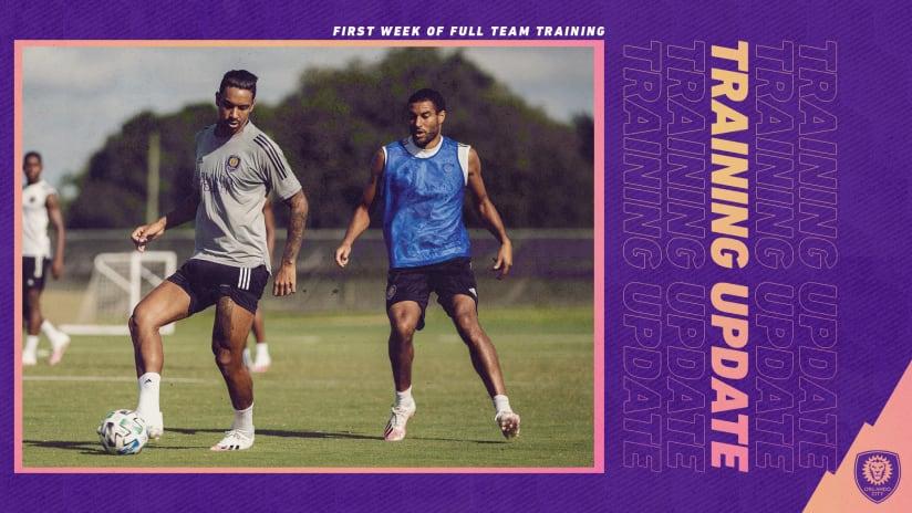 City Training Update   First Week of Full Team Training
