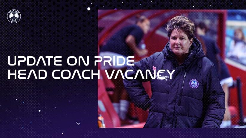 Update on Orlando Pride Head Coach Vacancy