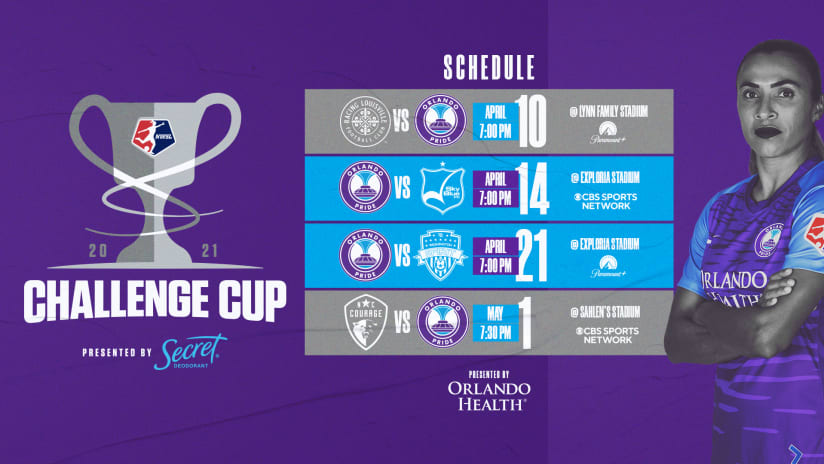 Orlando Pride Schedule Revealed for 2021 NWSL Challenge Cup