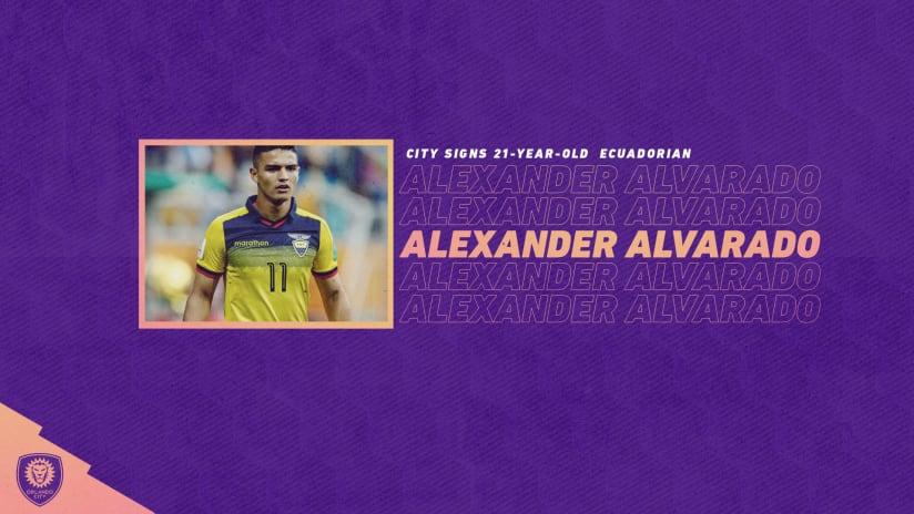 Orlando City SC Acquires Ecuadorian Forward Alexander Alvarado