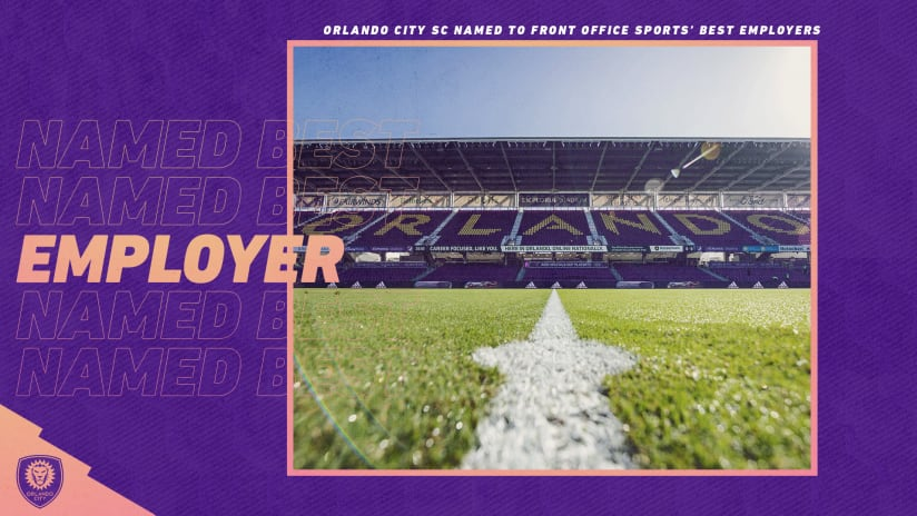 Orlando City SC, Orlando Pride Named to Front Office Sports' Best Employers in Sports