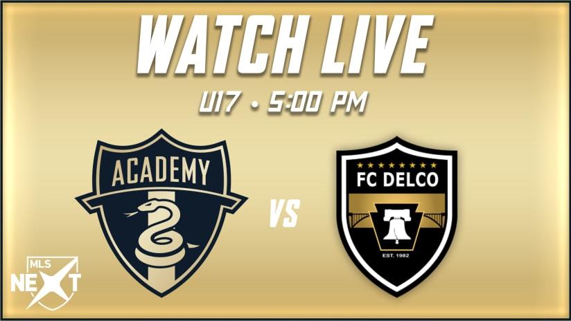 STREAM   Union Academy U17s host FC Delco Tuesday evening