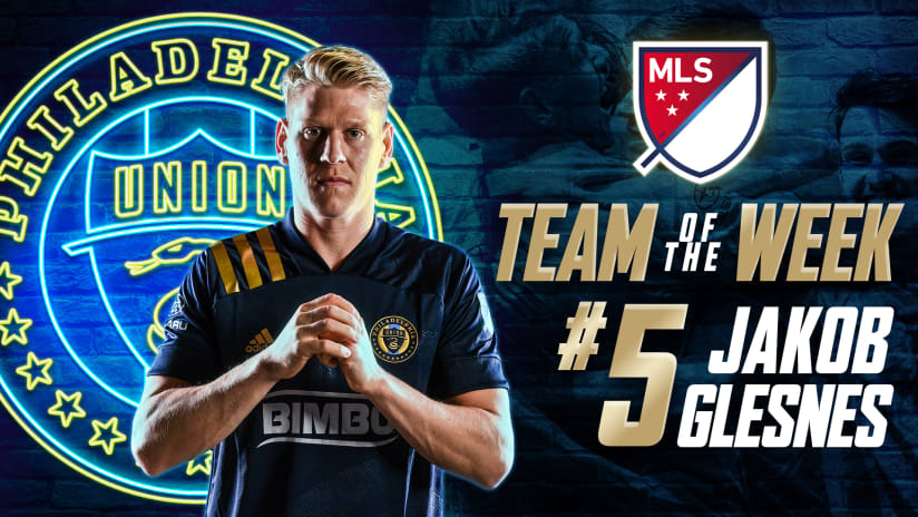 Jakob Glesnes named to MLS Team of the Week