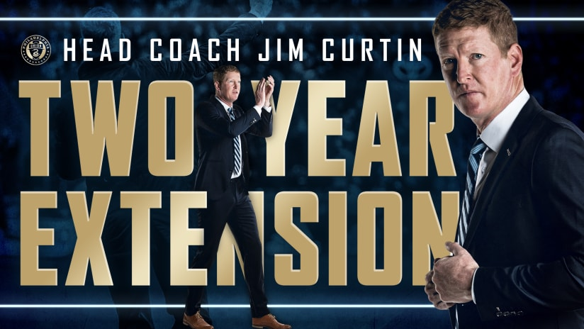 Philadelphia Union Sign Head Coach Jim Curtin To Contract Extension