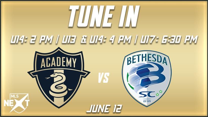 Tune In | Academy hosts Bethesda SC Saturday