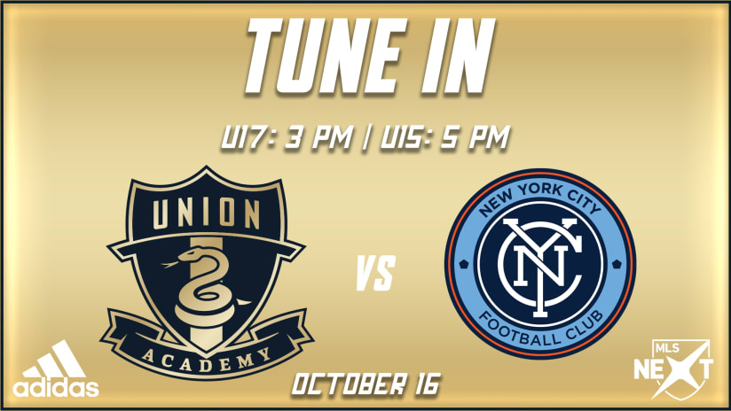 Tune In | Academy begins busy weekend of MLS NEXT match against NYCFC