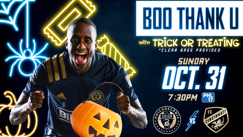 Union announce BOO Thank U activities for Oct. 31 contest