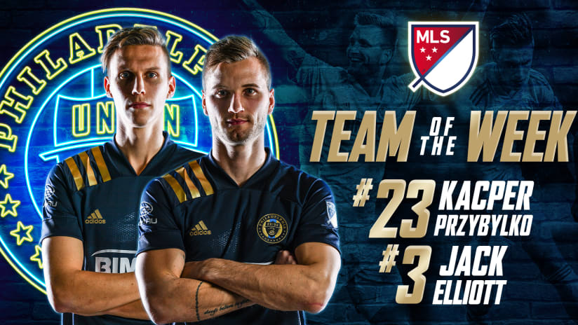 Union duo named to MLS Team of the Week