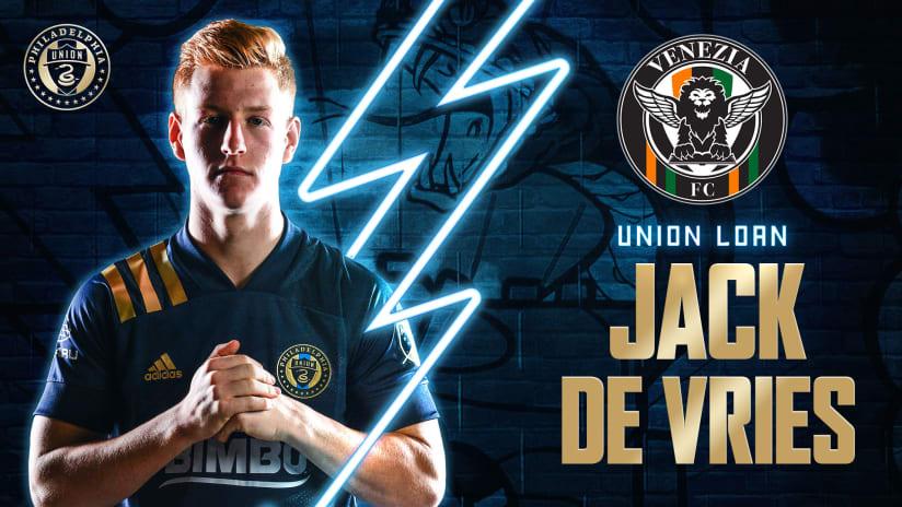 Philadelphia Union Loan Midfielder Jack de Vries to Venezia FC