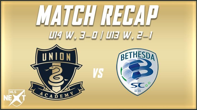 U14s and U13s sweep Bethesda SC over the weekend