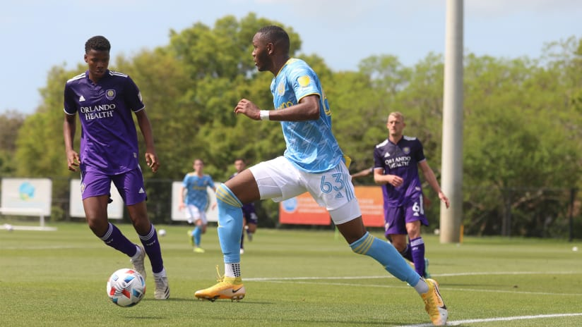 Union II's Shanyder Borgelin makes preseason appearance with first team