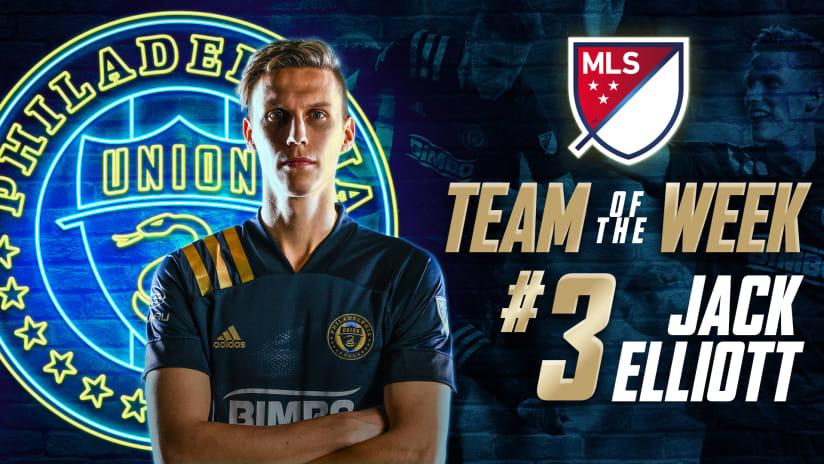 Jack Elliott named to MLS Team of the Week