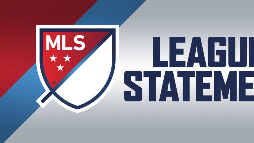 MLS league statement