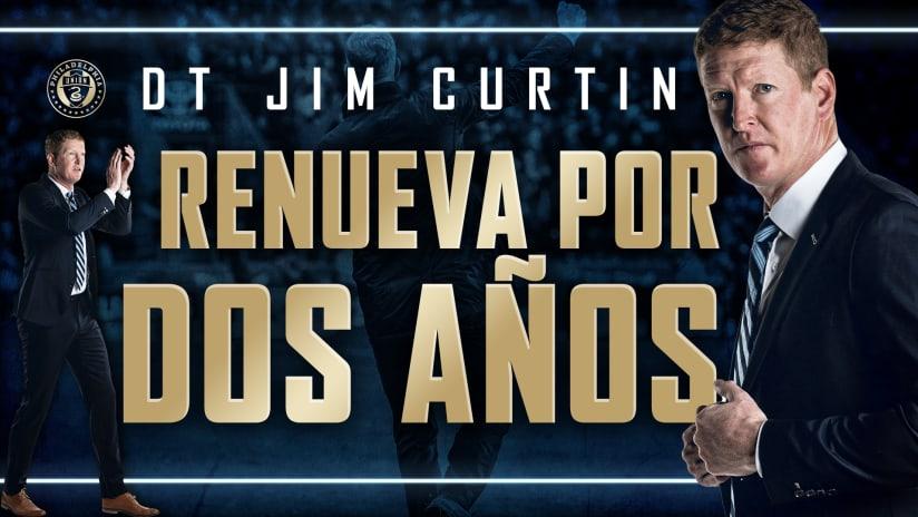 Philadelphia Union Firma al Entrenador Jim Curtin a una Extension de Contrato