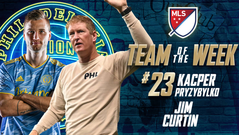 Przybylko and Curtin claim MLS Team of the Week Honors