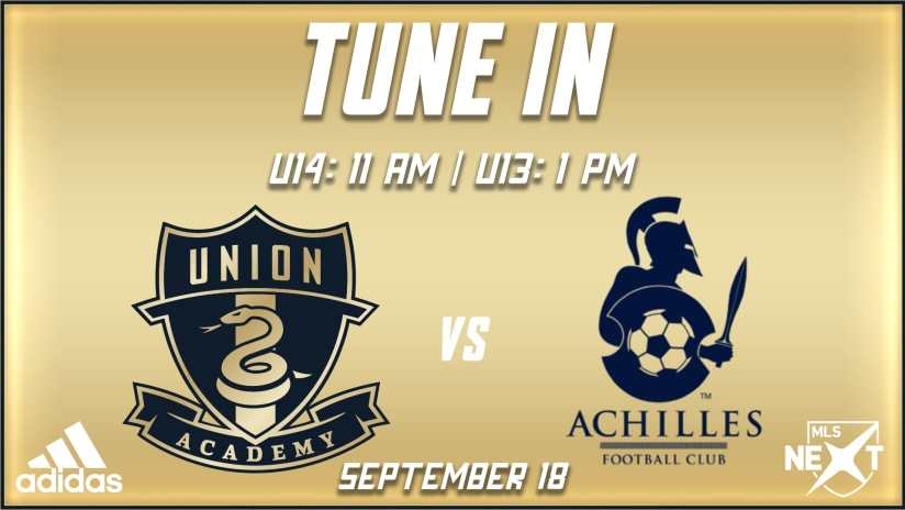 Tune In | Academy hosts Achilles FC for MLS NEXT contests