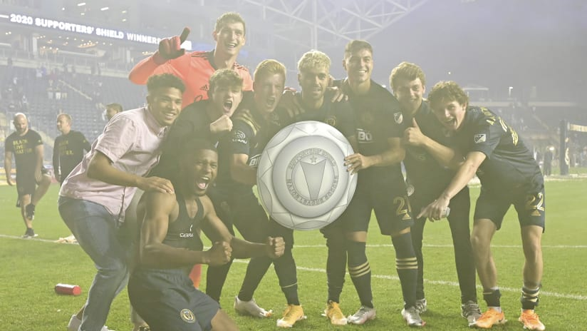 Homegrowns celebrate Supporters' Shield