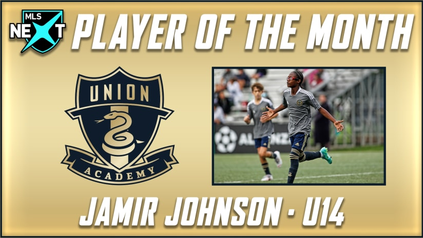 Academy's Jamir Johnson named inaugural MLS NEXT Player of the Month
