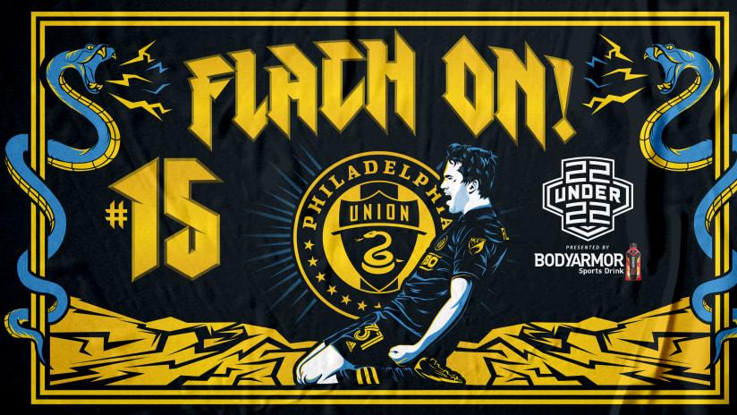 Flach ranks No. 15 in MLS 22 under 22