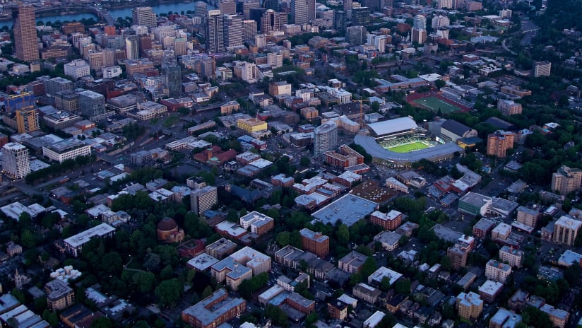 Providence Park, aerial, 12.30.19