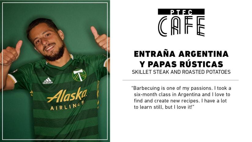 PTFC Cafe | Sebastián Blanco's Entraña Argentina y Papas Rústicas (skillet steak and roasted potatoes) -