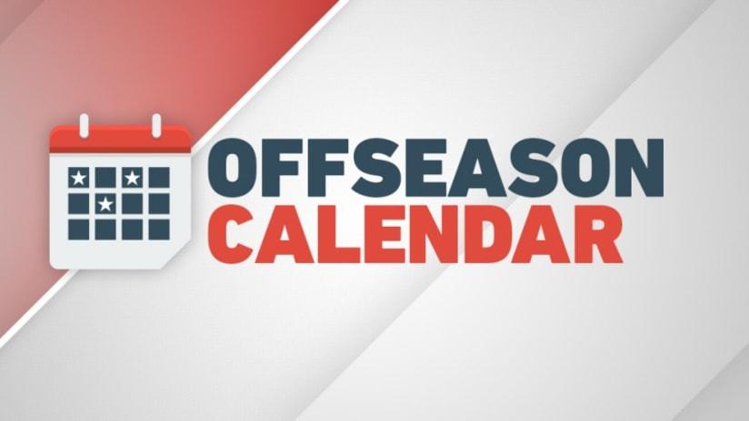 MLS Offseason calendar, 11.30.20