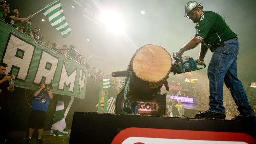 Timber Joey Saws, Timbers vs. Fire, 8.7.15