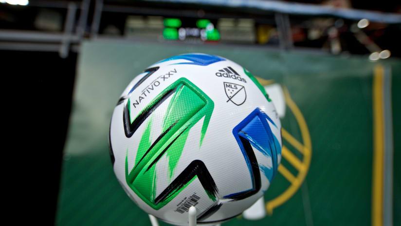 MLS 2020 soccer ball, Timbers vs. Loons, 3.1.20