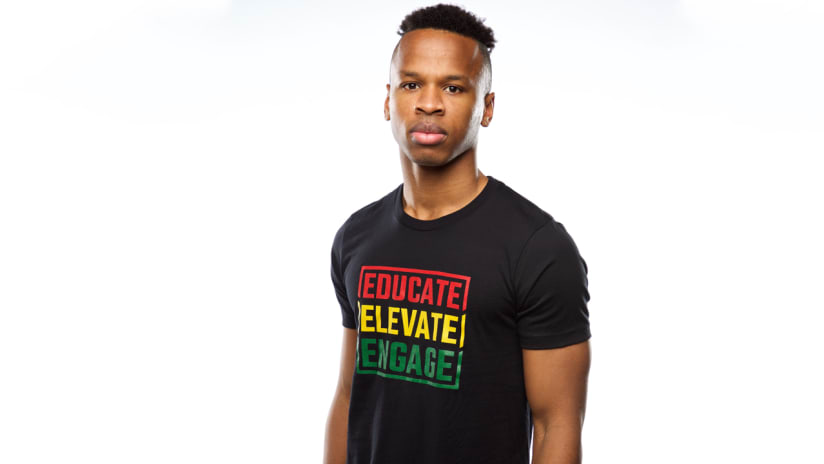 Jeremy Ebobisse, Black History Month t-shirt