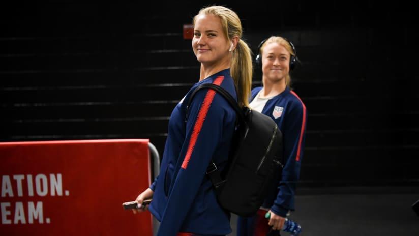 Lindsey Horan, Emily Sonnett, USA vs. Mexico, 4.5.18