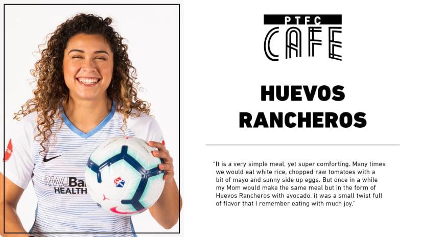 PTFC Cafe | Thorns midfielder Rocky Rodriguez's Huevos Rancheros -