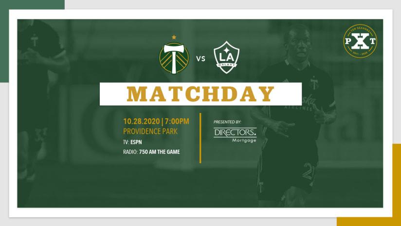 Matchday, Timbers vs. LA, 10.28.20