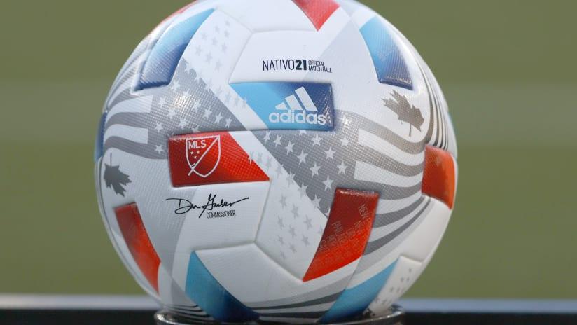 MLS adidas ball, Timbers vs. SKC, 6.19.21