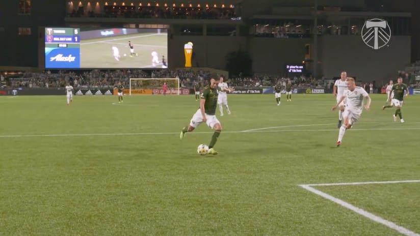 SLOMO | Cristhian Paredes laces through his shot to score against RSL