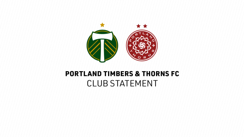 Timbers and Thorns co branded club statement, 3.17.20