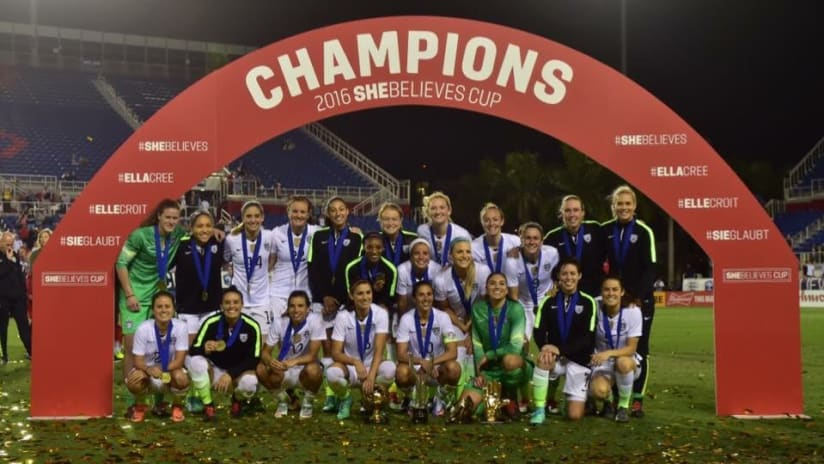 SheBelieves Cup Champions, 3.9.16