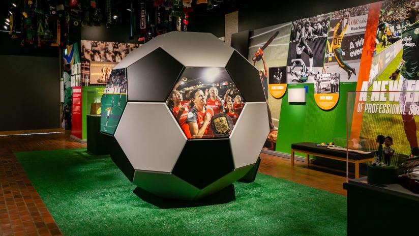 Giant soccer ball, Oregon Historical Society, 7.16.20