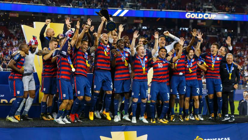 USMNT Celebration; Gold Cup; 8.4.17