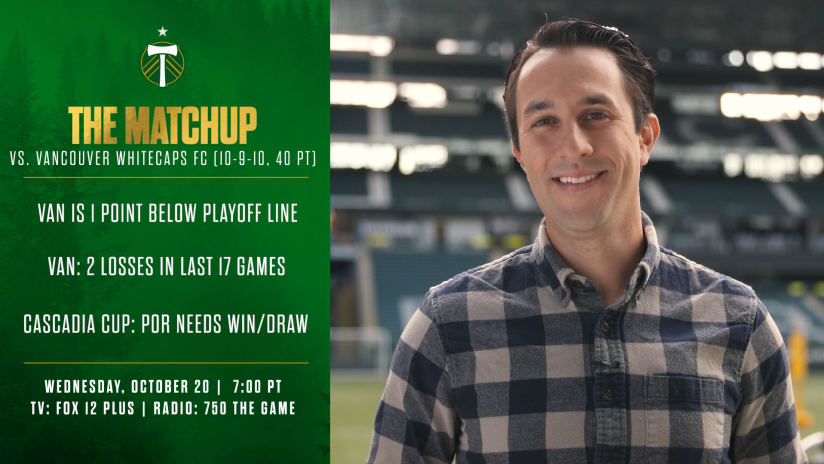 The Matchup | Jake Zivin with what to know about #PORvVAN
